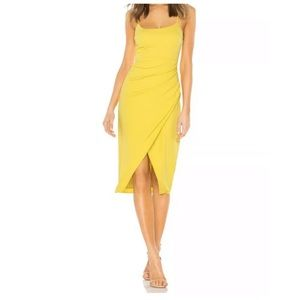 Lovers & Friends Yellow Genevieve Midi Dress